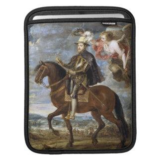 Retrato ecuestre de Philip II Peter Paul Rubens Fundas Para iPads