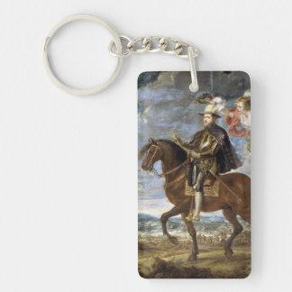 Retrato ecuestre de Philip II Peter Paul Rubens Llavero Rectangular Acrílico A Doble Cara