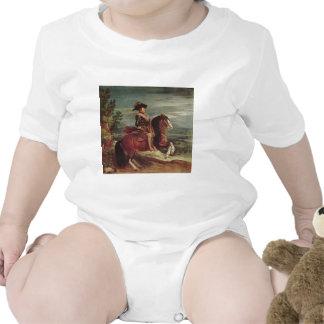 Retrato ecuestre de Philip IV Trajes De Bebé
