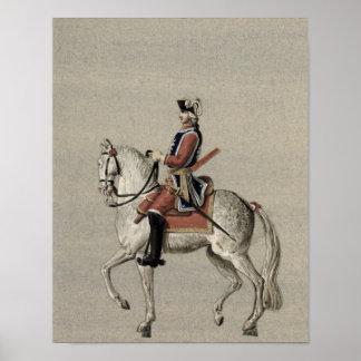 Retrato ecuestre de príncipe Charles Posters