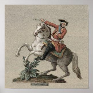 Retrato ecuestre de príncipe Charles Poster