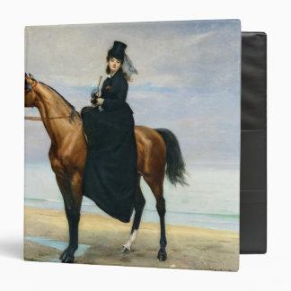 """Retrato ecuestre del Mademoiselle Croizette Carpeta 1 1/2"""""""