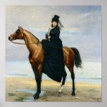 Retrato ecuestre del Mademoiselle Croizette Impresiones