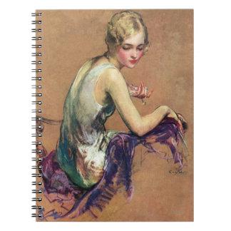 Retrato en colores pastel libro de apuntes