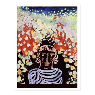 Retrato en el jardín de Paul Klee Tarjetas Postales