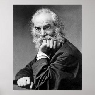 Retrato esencial de Walt Whitman, edad 50 Póster
