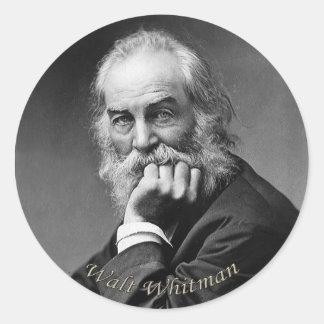 Retrato esencial de Walt Whitman Pegatina Redonda