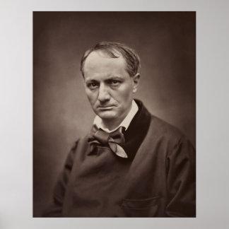 Retrato Étienne Carjat de Charles Pedro Baudelaire Posters