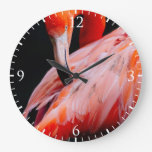 Retrato exótico del flamenco reloj de pared