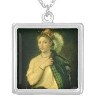 Retrato femenino, c.1536 colgante cuadrado