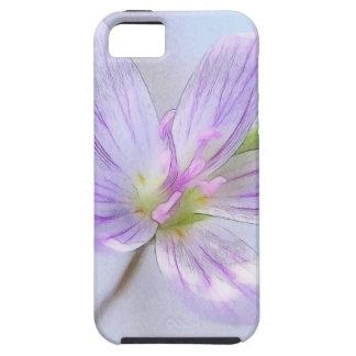Retrato - flor de la belleza de primavera iPhone 5 fundas