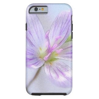 Retrato - flor de la belleza de primavera funda de iPhone 6 tough