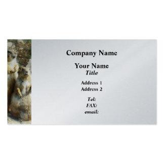 Retrato formal del perro de las praderas plantilla de tarjeta personal