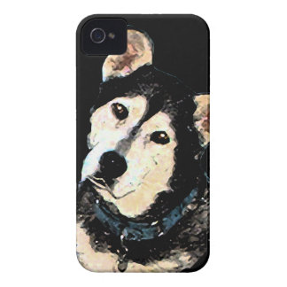 Retrato fornido del perro del pastor lindo iPhone 4 Case-Mate protectores
