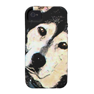 Retrato fornido del perro del pastor lindo Case-Mate iPhone 4 carcasas