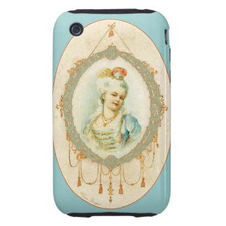 Retrato francés joven Samsung de Marie Antonieta iPhone 3 Tough Funda