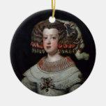 Retrato fut de Maria Teresa de la infanta de los Adorno Navideño Redondo De Cerámica
