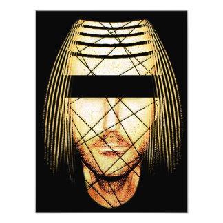 Retrato futurista del hombre cojinete