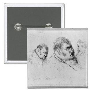 Retrato Georges Cadoudal del 25 de mayo de 1804 Pin Cuadrado