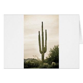 Retrato gigante del desierto de Sonoran del Saguar Tarjeta De Felicitación