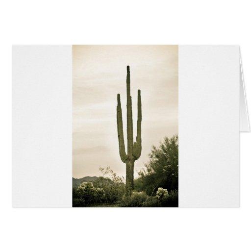 Retrato gigante del desierto de Sonoran del Saguar Tarjetón