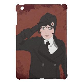 Retrato gráfico de la mujer de WWII iPad Mini Carcasas