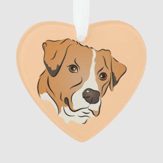 Retrato gráfico del perro de la mezcla del