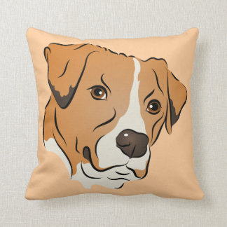 Retrato gráfico del perro de la mezcla del almohada