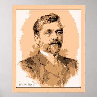 Retrato Gustavo Eiffel Poster