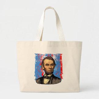 Retrato hermoso de Abraham Lincoln Bolsa Tela Grande