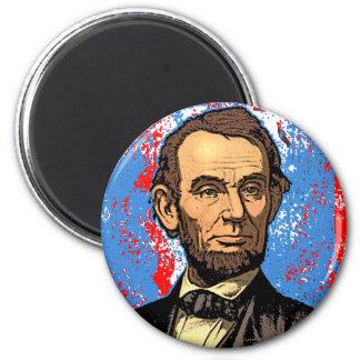 Retrato hermoso de Abraham Lincoln Imán Redondo 5 Cm