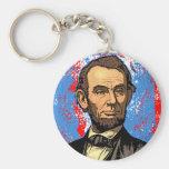 Retrato hermoso de Abraham Lincoln Llaveros Personalizados