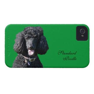 Retrato hermoso de la foto del negro del perro de Case-Mate iPhone 4 cárcasas