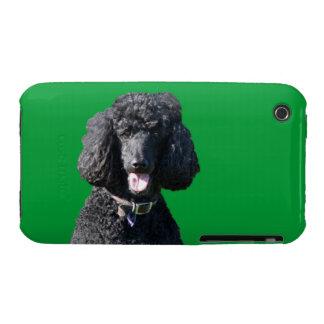 Retrato hermoso de la foto del negro del perro de Case-Mate iPhone 3 protectores