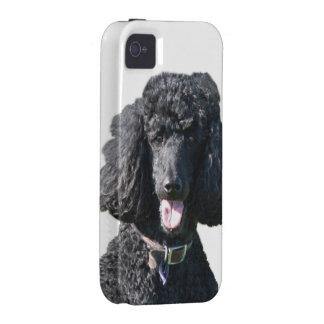 Retrato hermoso de la foto del negro del perro de vibe iPhone 4 carcasa