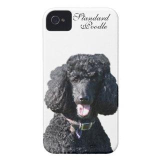 Retrato hermoso de la foto del negro del perro de iPhone 4 Case-Mate cobertura