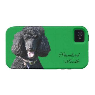 Retrato hermoso de la foto del negro del perro de iPhone 4/4S funda