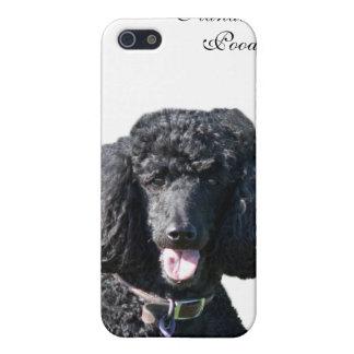 Retrato hermoso de la foto del negro del perro de  iPhone 5 fundas
