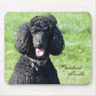 Retrato hermoso de la foto del negro del perro de  tapetes de ratón