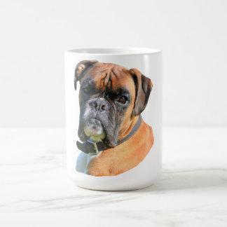 Retrato hermoso de la foto del perro del boxeador taza