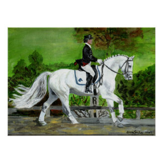 Retrato I del caballo del Dressage Póster