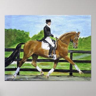 Retrato II del caballo del Dressage Póster