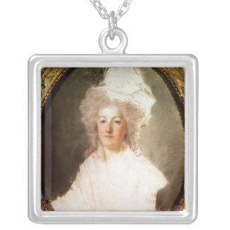 Retrato inacabado de Marie-Antonieta Colgante Cuadrado