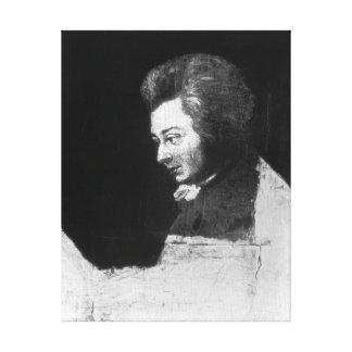 Retrato inacabado de Wolfgang Amadeus Mozart Impresiones En Lona