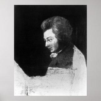 Retrato inacabado de Wolfgang Amadeus Mozart Posters