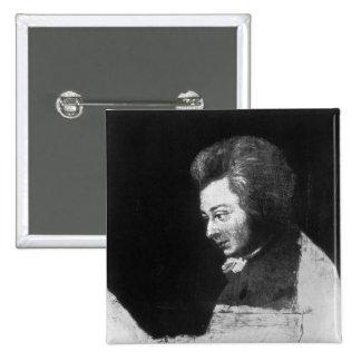 Retrato inacabado de Wolfgang Amadeus Mozart Pins