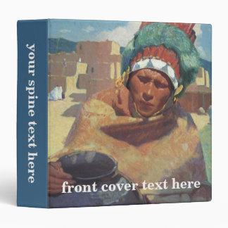 "Retrato indio del nativo americano de Taos, Carpeta 1 1/2"""