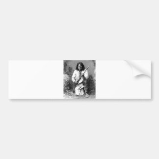 Retrato indio del vintage del nativo americano etiqueta de parachoque
