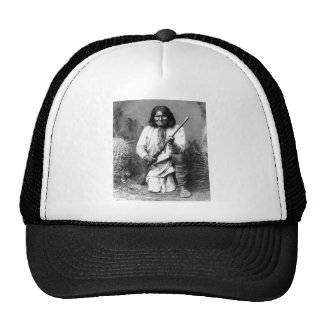 Retrato indio del vintage del nativo americano gorro de camionero