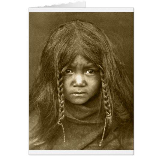 Retrato indio del vintage del nativo americano tarjeta de felicitación